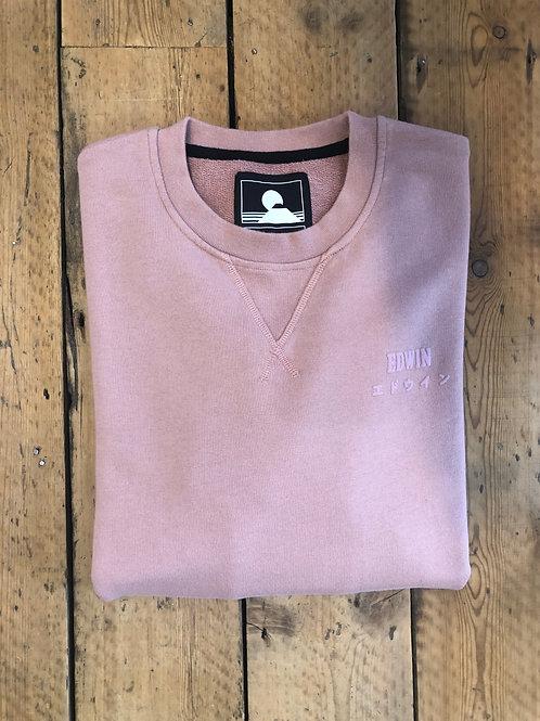 Edwin base crew sweatshirt in woodrose