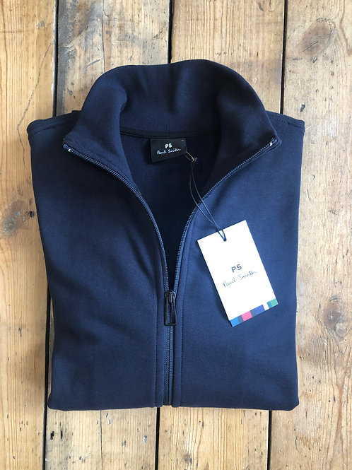 Paul Smith Navy zip-up Track top with sleeve print.