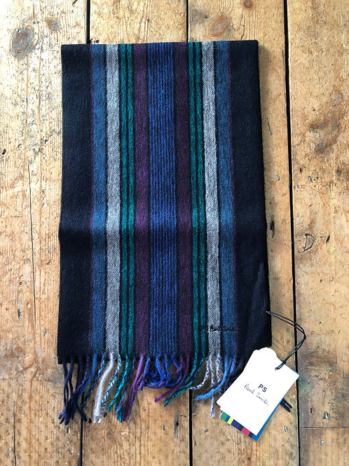 PS by Paul Smith 'College Stripe' wool  scarf