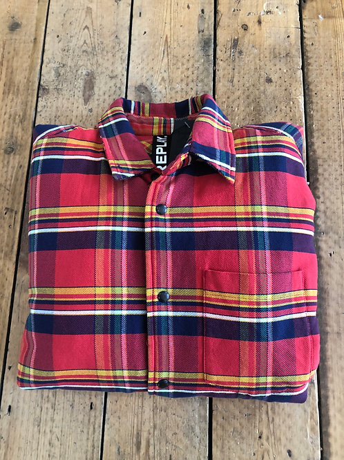 Replay fully lined plaid shirt/jacket hybrid