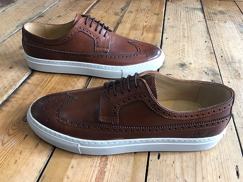 G H Bass 'Longwing' Tan leather cupsole sneaker brogue