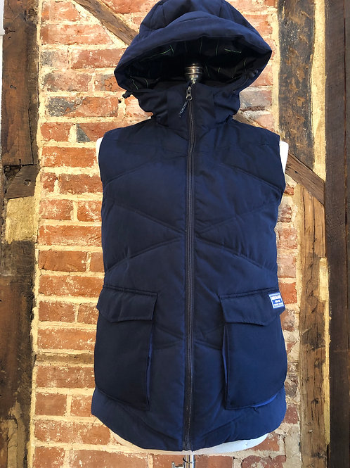 Scotch & Soda navy quilted gilet.