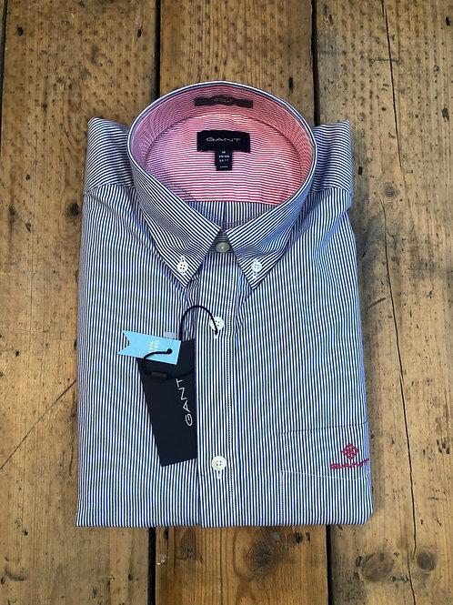 GANT stripe shirt 'Banker Contrast' in College Blue