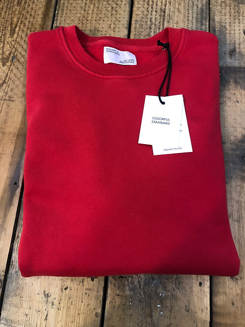Colorful Standard organic cotton sweatshirt in Scarlet Red