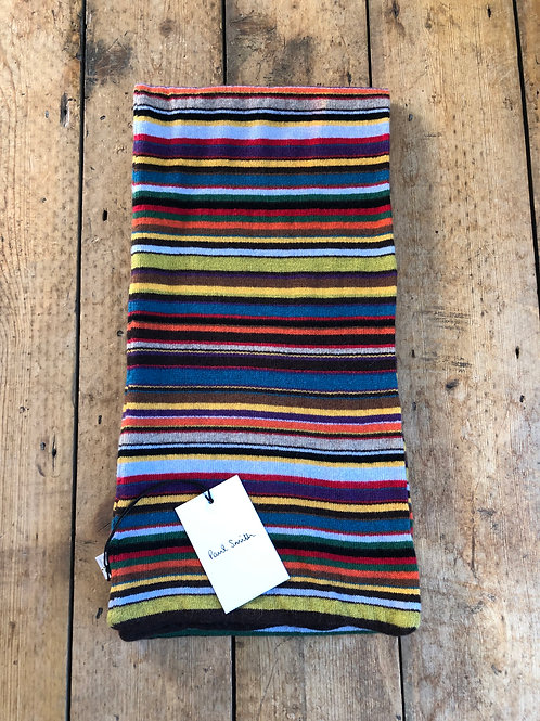 Paul Smith signature stripe wool and cashmere scarf