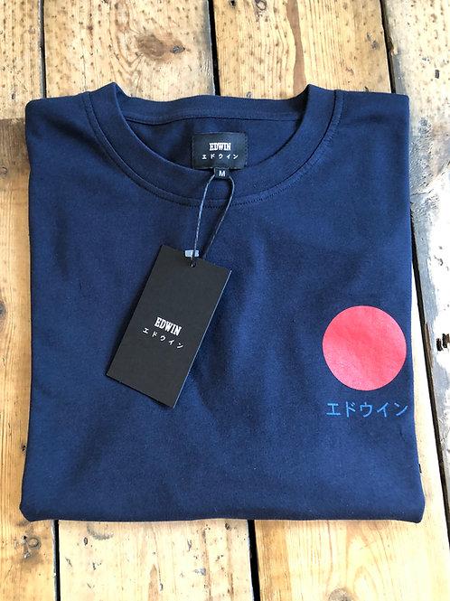 Edwin Japanese Sun T-Shirt in Navy