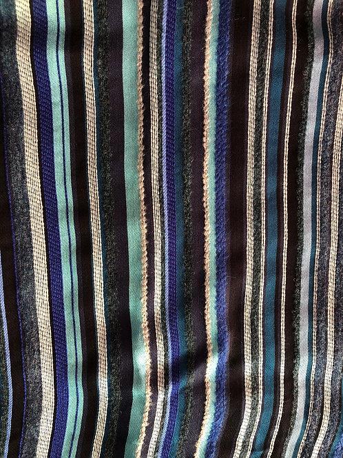 Paul Smith blue 'Signature Stripe' textured scarf