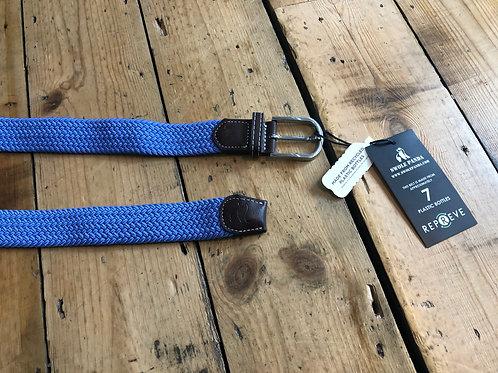 Swole Panda Recycled woven belt in Sky Blue