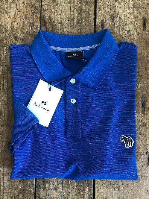 Paul Smith Cobalt blue slim fit Zebra Polo Shirt