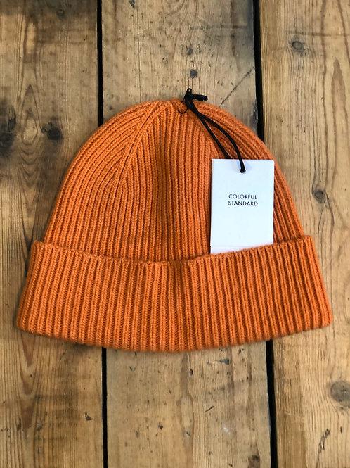 Colorful Standard Merino wool Beanie hat in Burned Orange