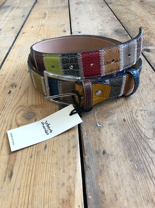 Robert Charles multi colour patchwork belt