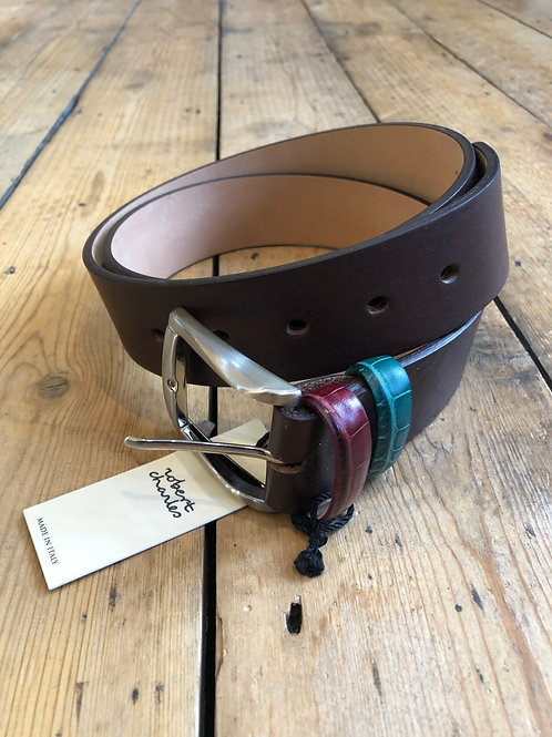 Robert Charles 1650, coloured keeper, chocolate leather belt