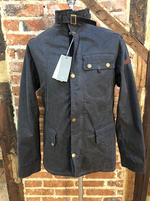 Peregrine 'Bexley' waxed cotton jacket in Gunmetal