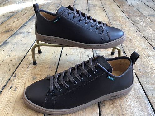 Paul Smith 'Miyata' trainers in Dark Brown Leather
