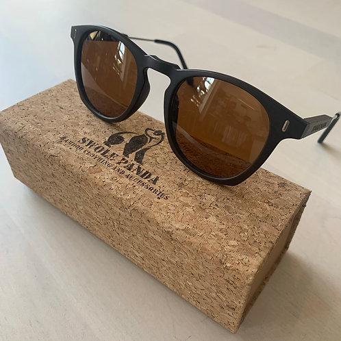 Swole Panda 'Wayfarers' Bamboo Sunglasses in Brown/Brown