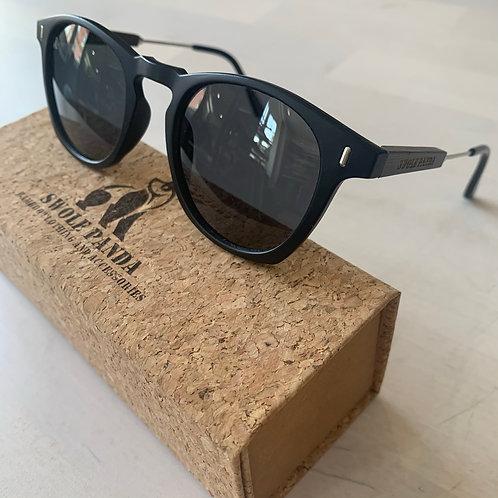Swole Panda 'Wayfarers' Bamboo Sunglasses in Black/Smoke