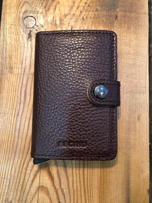 Secrid Miniwallet in Vegetable tanned leather, Espresso brown.