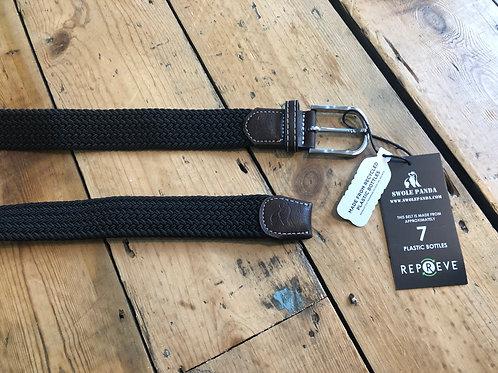 Swole Panda Recycled woven belt in Black