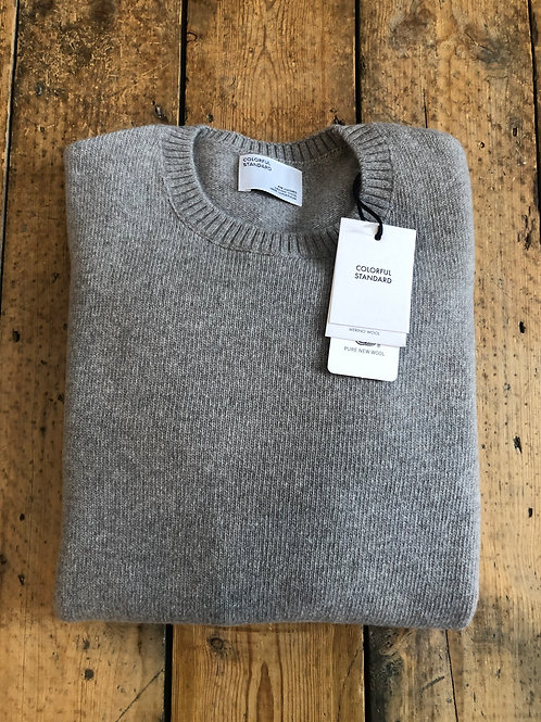 Colorful Standard Merino wool pullover in Heather Grey