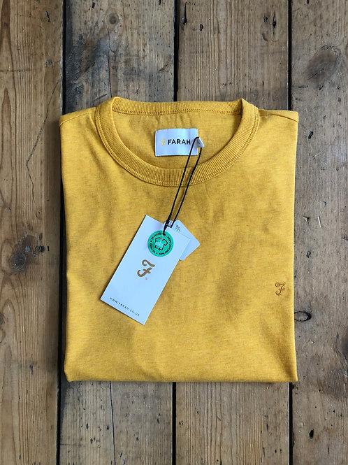 Farah T-Shirt in Dark Mustard Marl