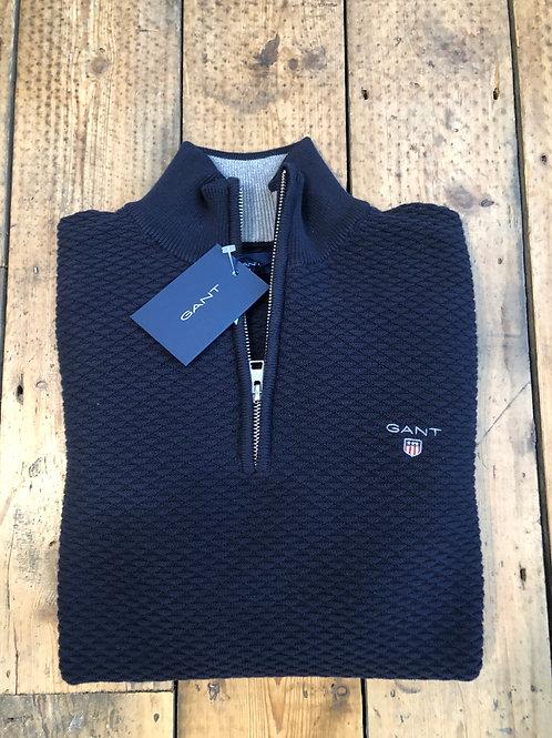 GANT Triangle Texture Half-Zip Pullover