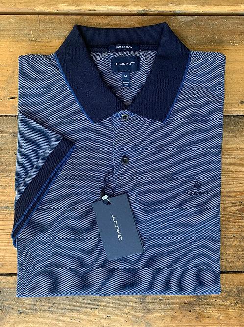 GANT 'Oxford Pique Rugger' in Blue