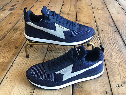 Paul Smith 'Rocket' knitted trainers in navy blue
