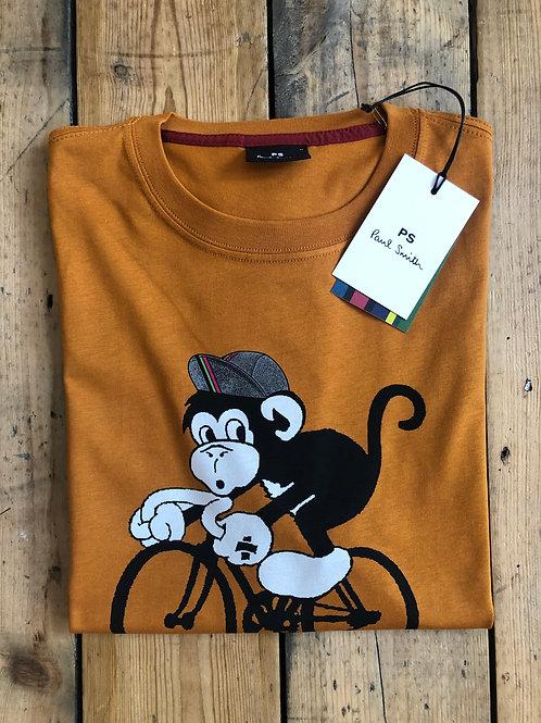 Paul Smith Cycling Monkey T-shirt in Burnt Orange