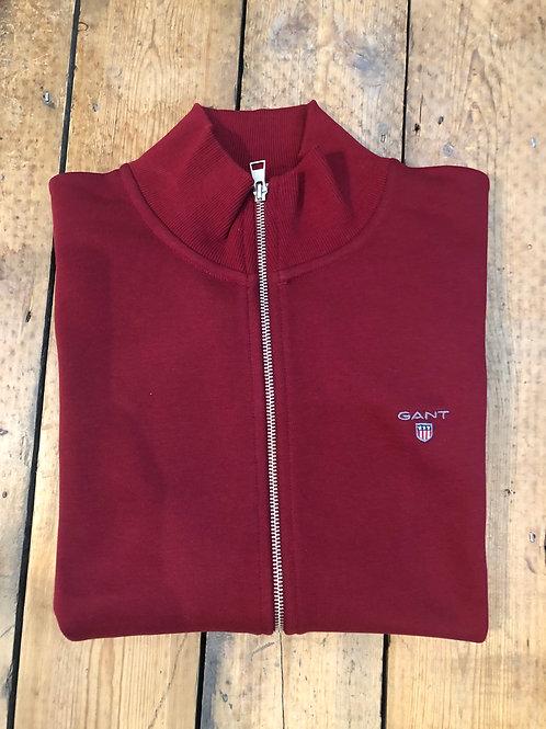 GANTOriginal Full-Zip Cardigan in Mahogany Red