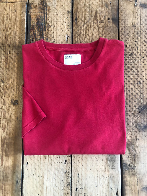 Colorful Standard classic organic cotton T-shirt scarlet red