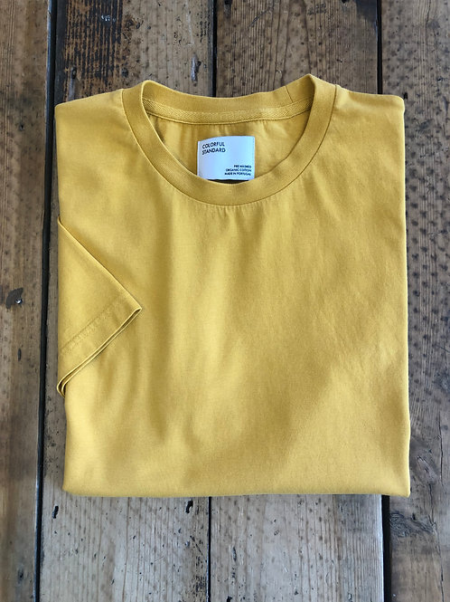 Colorful Standard classic organic cotton T-shirt burned yellow