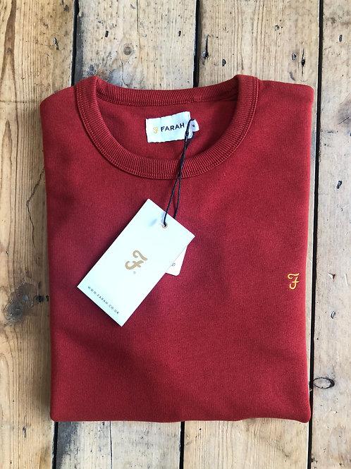 Farah 'Tim' sweatshirt in Russet