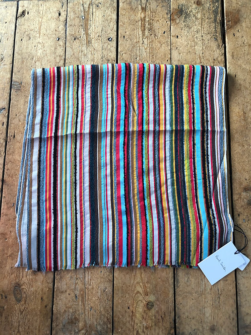 Paul Smith 'Signature Stripe' textured scarf
