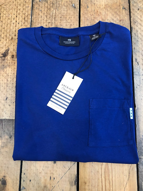 Scotch & Soda pocket T-Shirt in Yinmin Blue