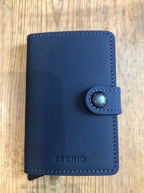 Secrid Miniwallet in Matte Night Blue