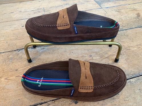 Paul Smith 'Nemean' slippers in Dark Brown