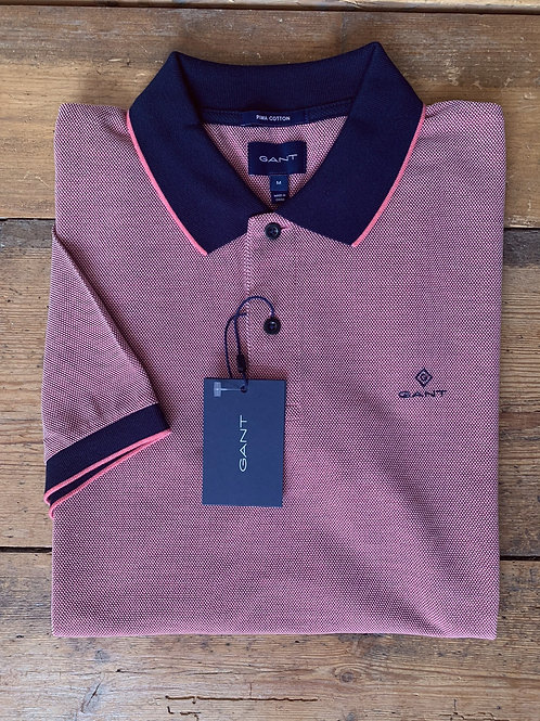 GANT 'Oxford Pique Rugger' in Pink