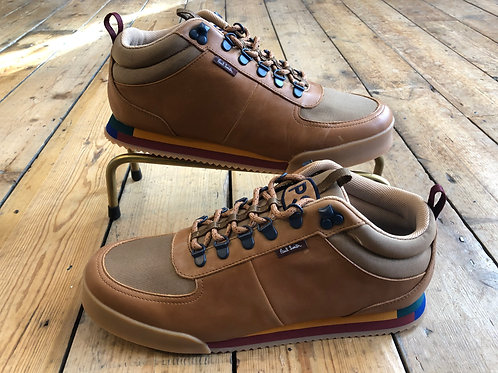 Paul Smith 'Harlan' trainer boots in Tan leather and nylon.