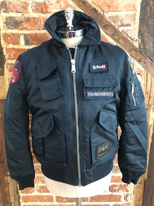 Schott CWM Bomber jacket in navy
