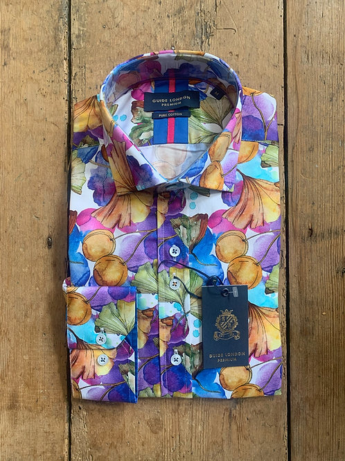 'Painted Florals' shirt by Guide London in Multi