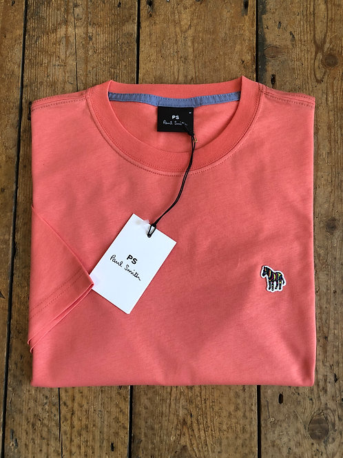 Paul Smith Zebra Logo T-shirt in Coral Pink