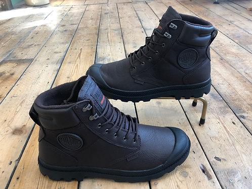 Palladium waterproof boots in chocolate leather