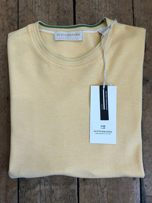 Scotch & Soda ECOVERO™ crewneck pullover in Code Yellow melange