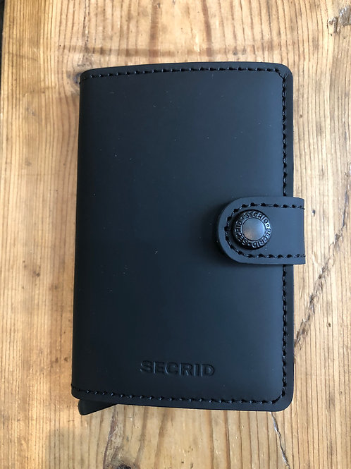 Secrid Miniwallet in Matte Black