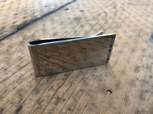 Paul Smith multi colour stripe money clip