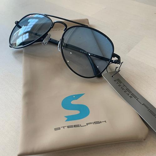 Steelfish 'Ace Marin' sunglasses in Black/Clear