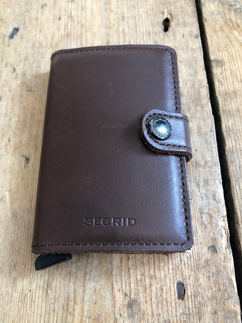 Secrid Miniwallet Original Dark Brown
