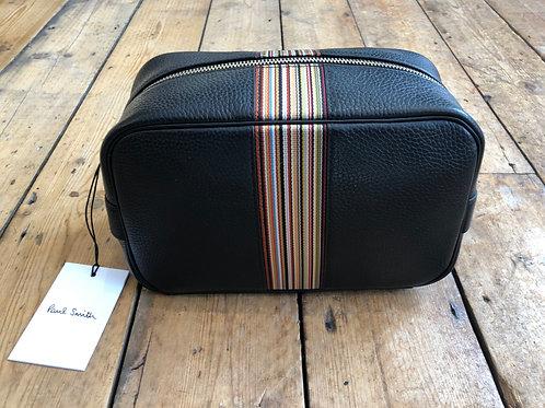 Paul Smith Signature stripe leather washbag