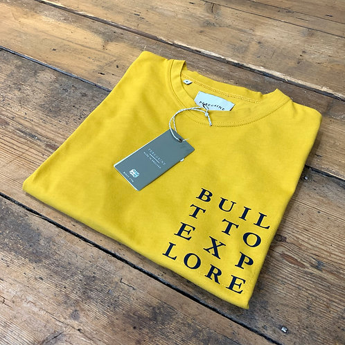 Peregrine 'Built to Explore' T-shirt in Yellow