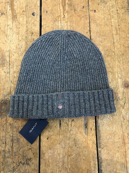 Gant grey wool beanie with lining
